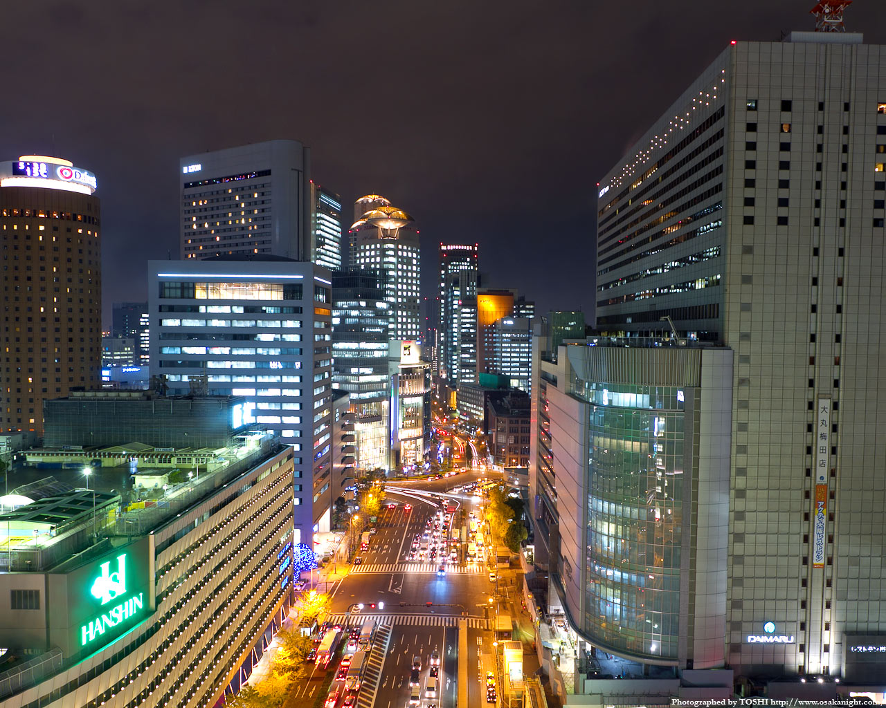 JR大阪駅〜西梅田方面の夜景2