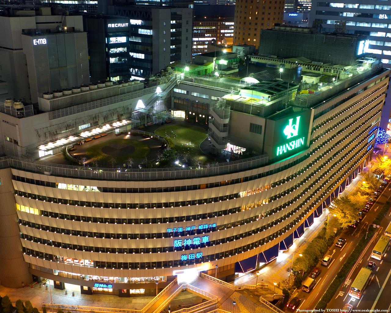 阪神百貨店の夜景