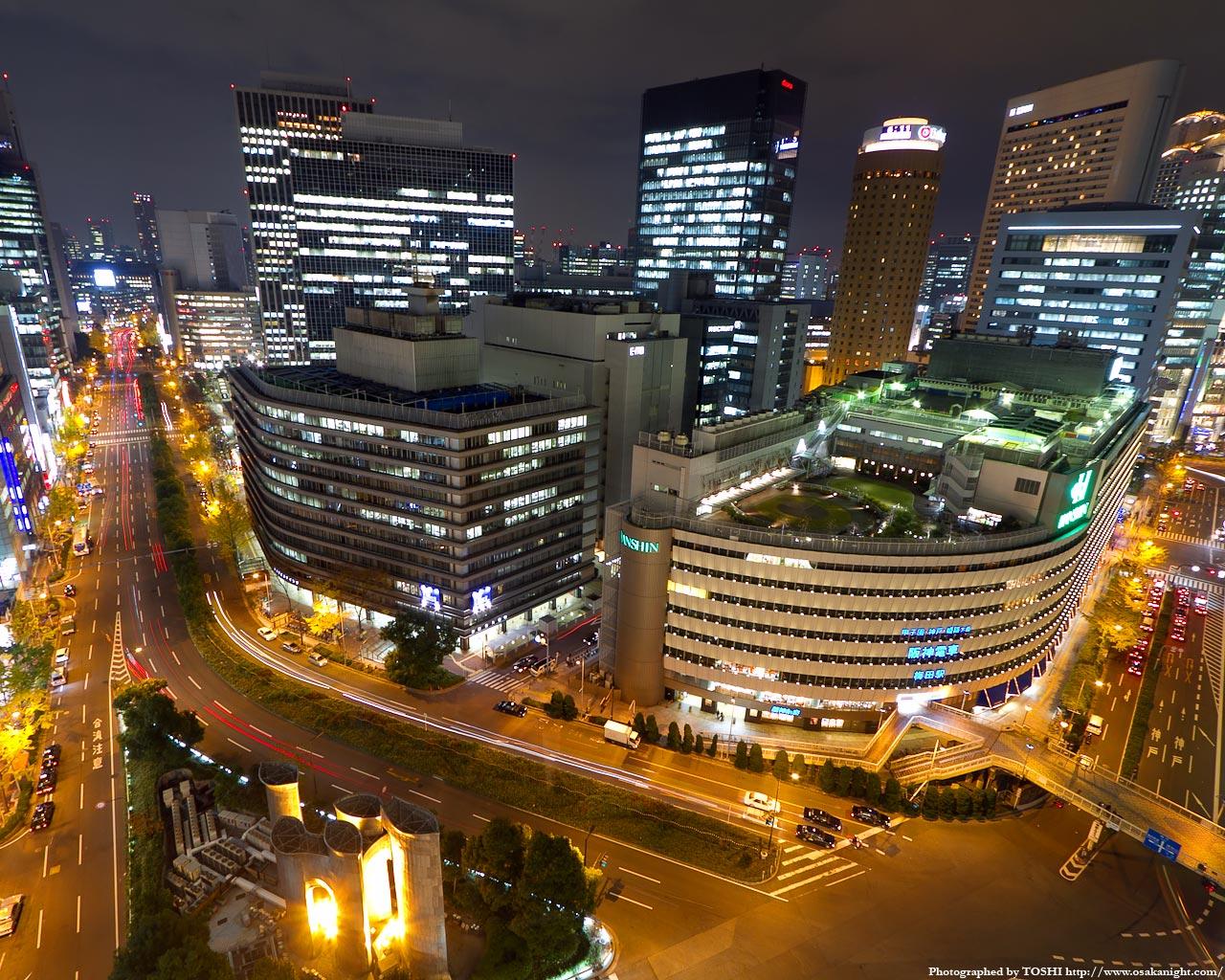 大阪駅前ダイヤモンド地区の俯瞰夜景1