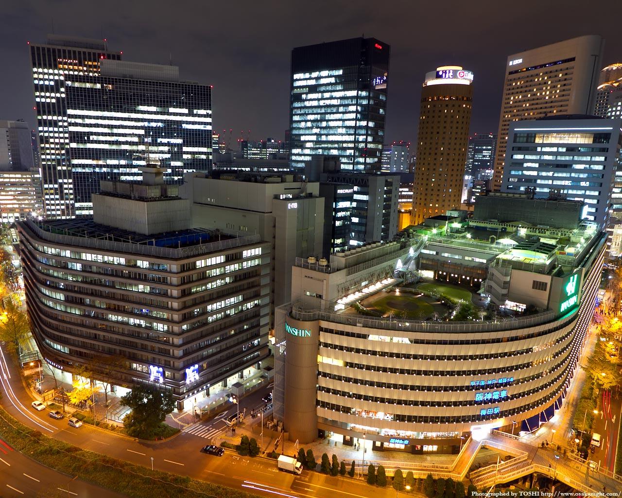 大阪駅前ダイヤモンド地区の俯瞰夜景2