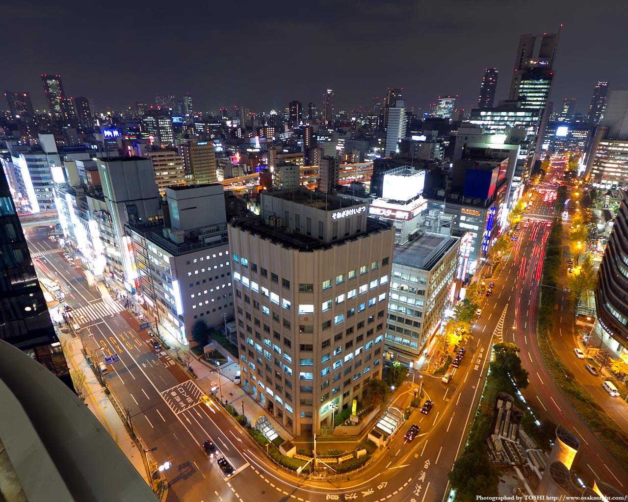 天満橋〜京橋方面の夜景