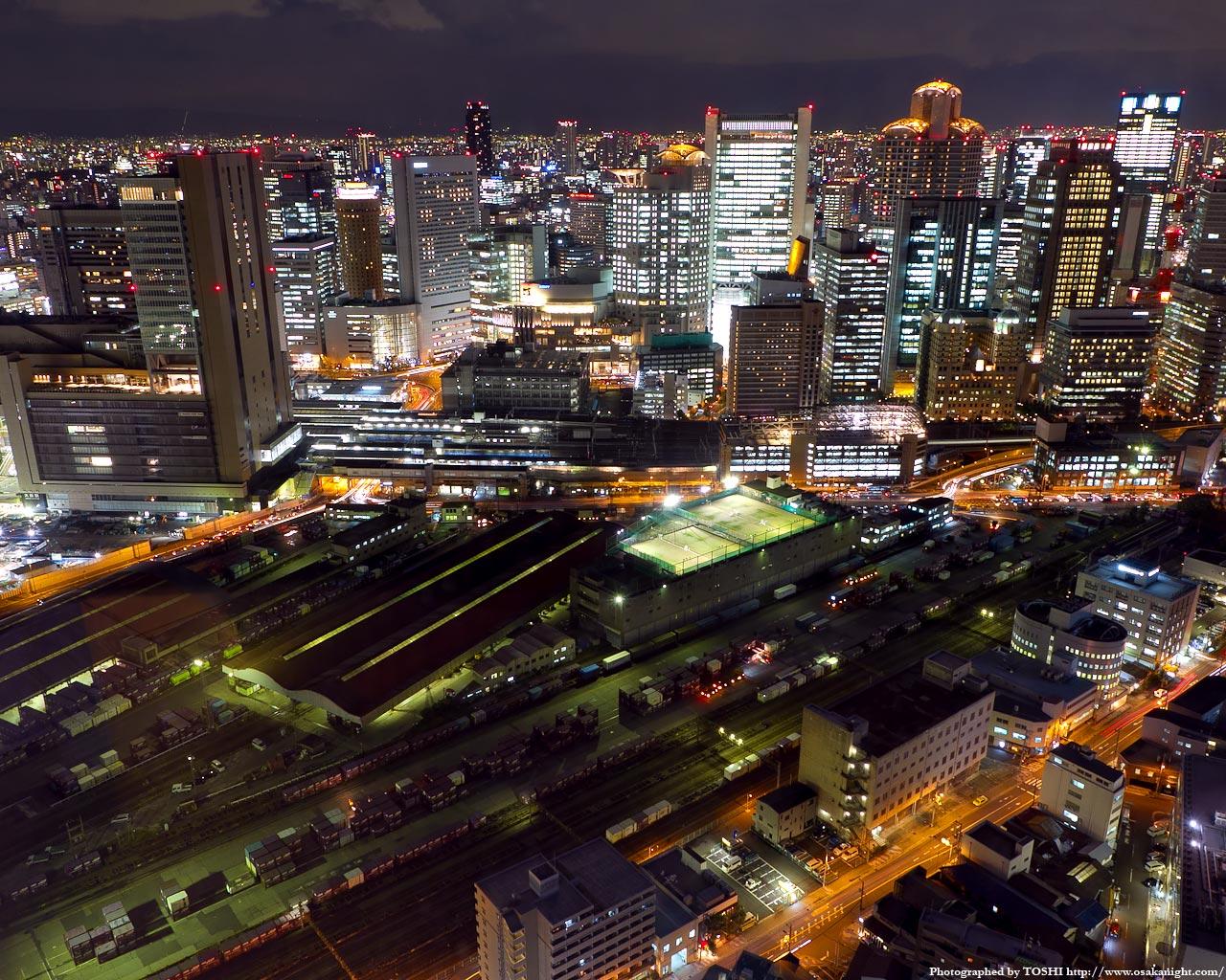 南方向JR大阪駅〜西梅田方面の夜景1