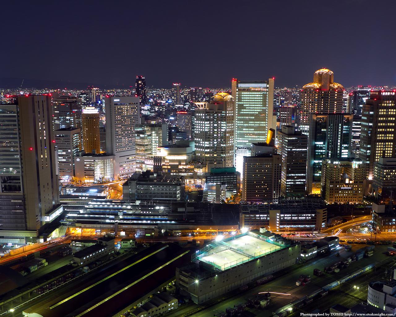 南方向JR大阪駅〜西梅田方面の夜景2
