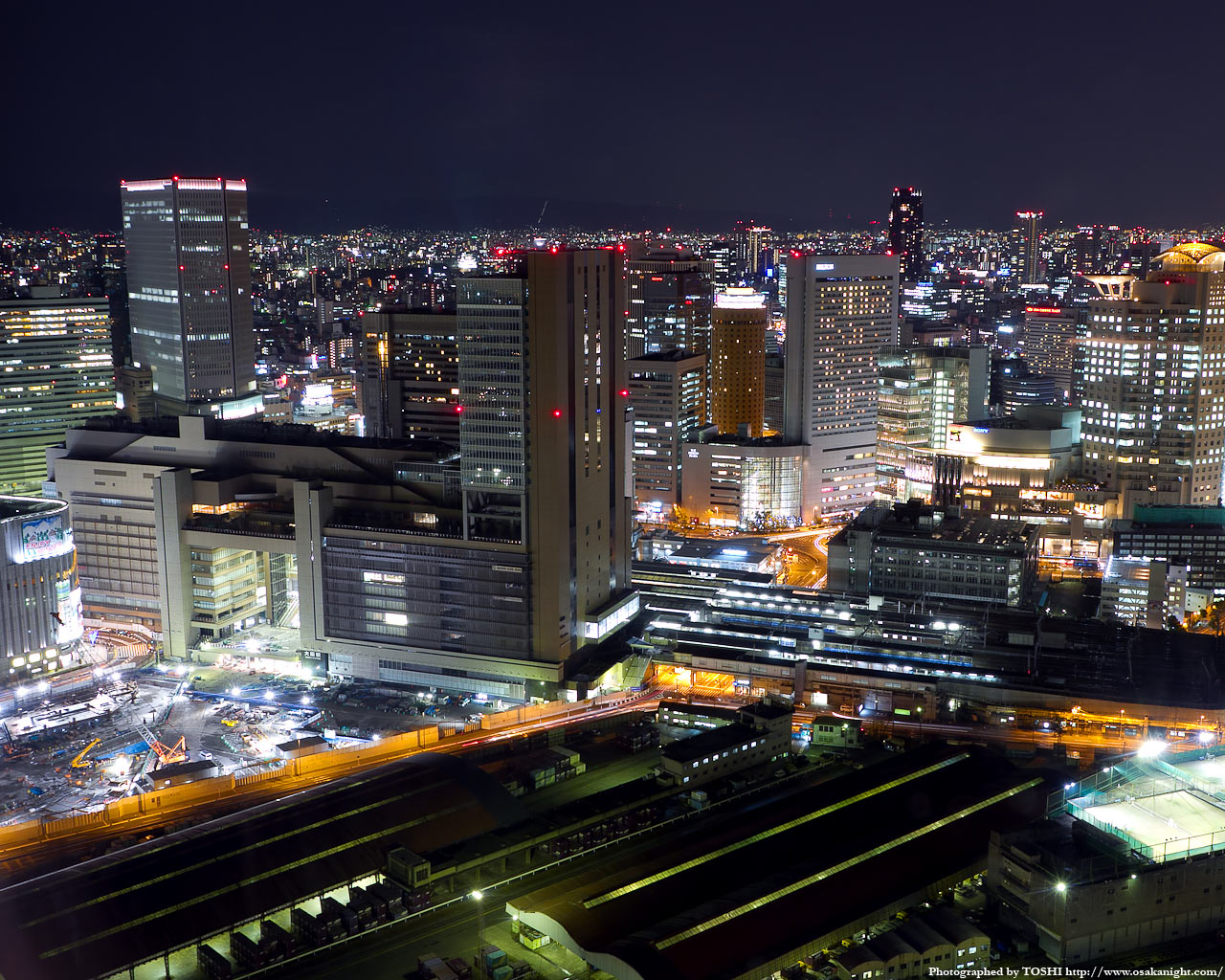 JR大阪駅周辺の夜景