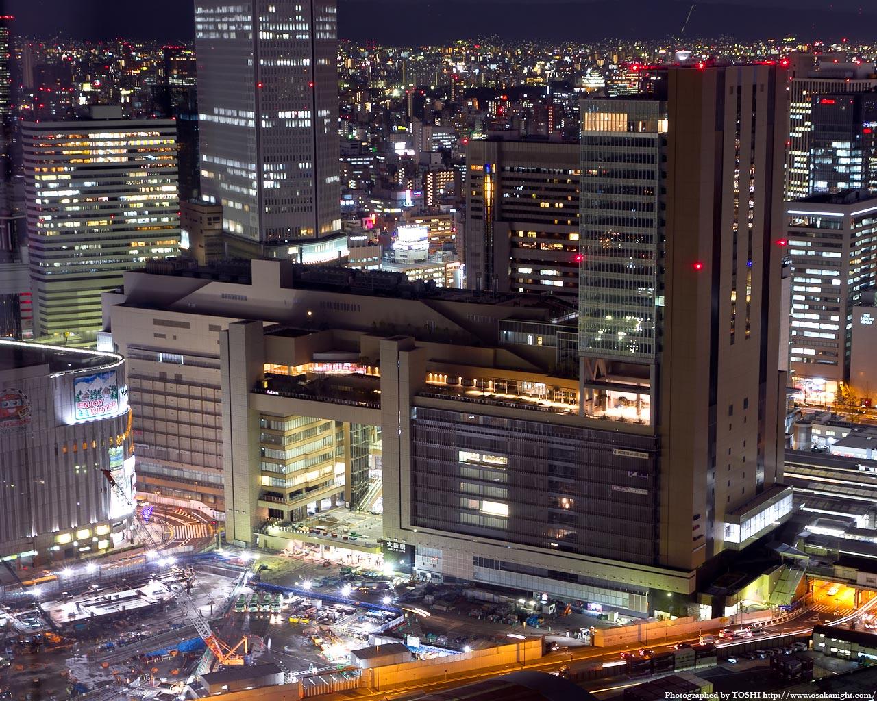JR大阪駅ノースゲートビルディング夜景