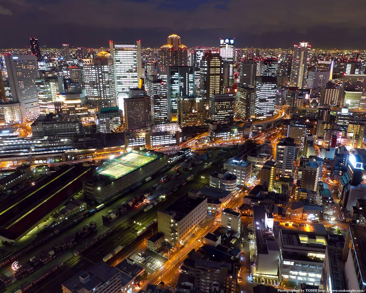西梅田大阪ガーデンシティの夜景1