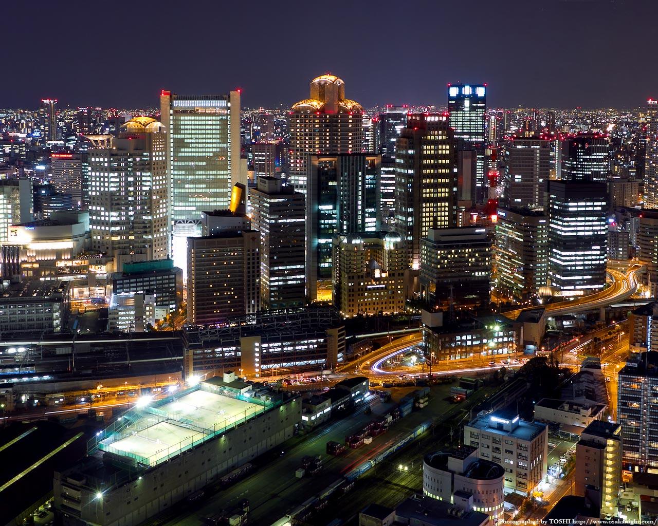 西梅田大阪ガーデンシティの夜景2