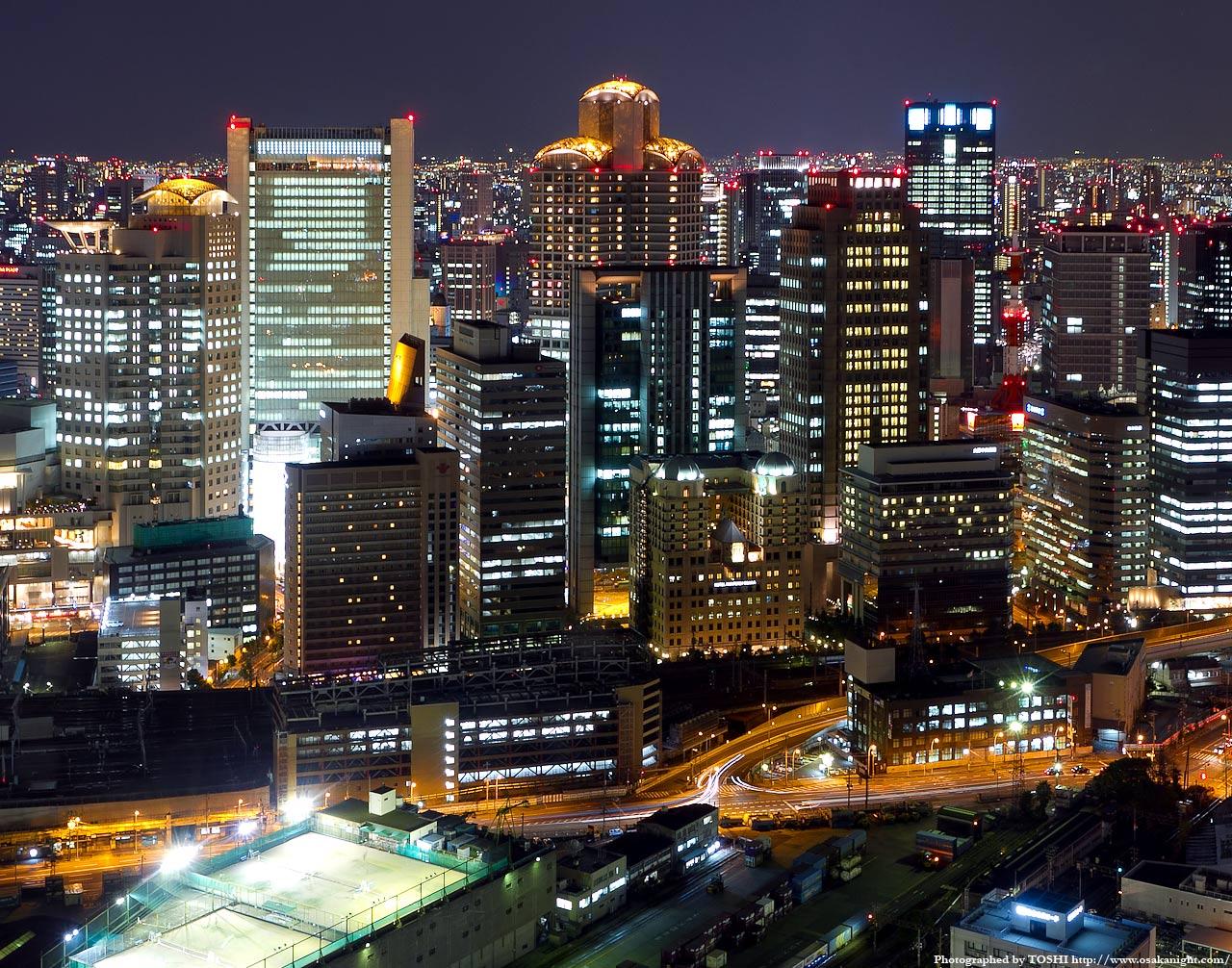 西梅田大阪ガーデンシティの夜景3