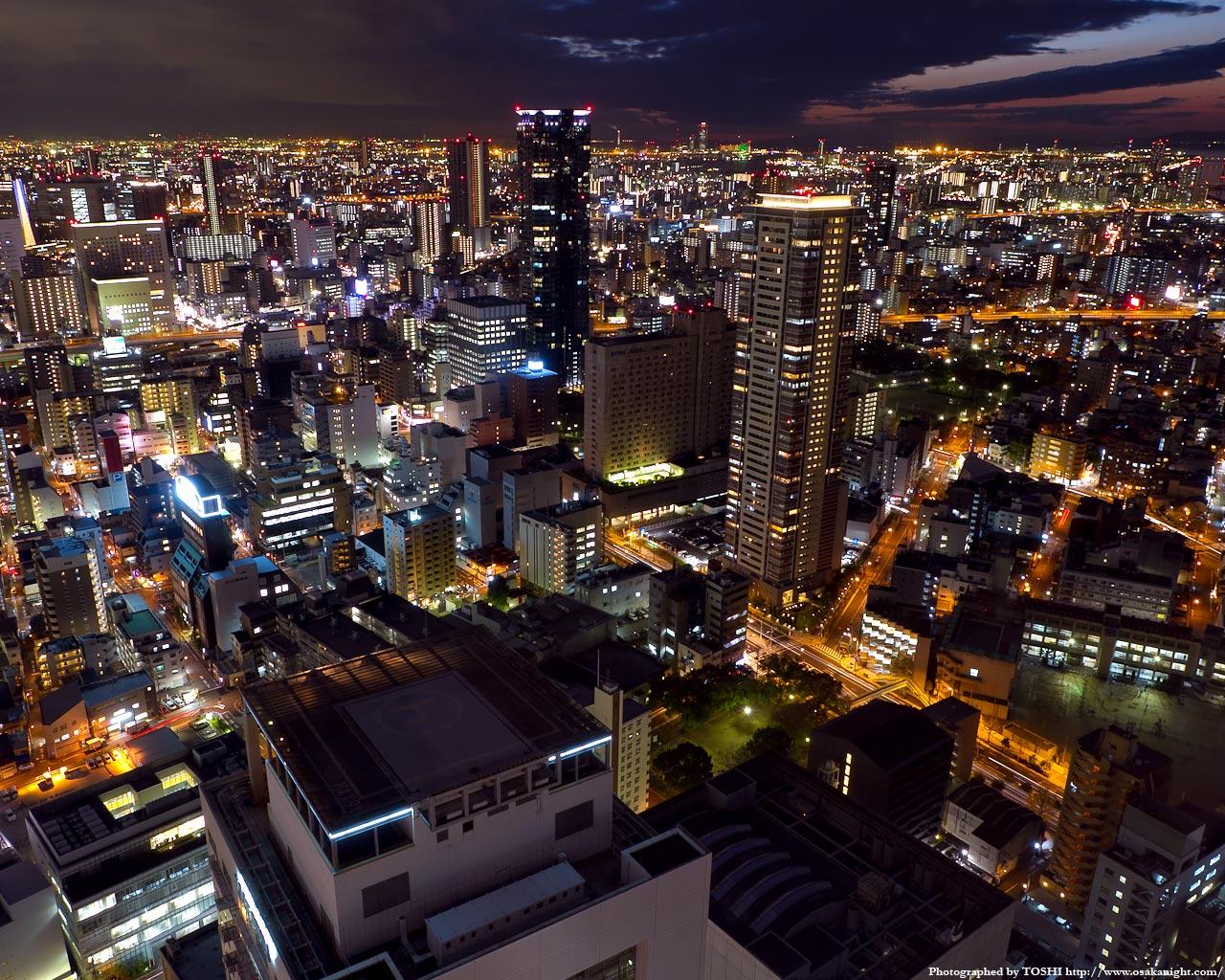 福島駅〜大阪ベイエリア方面の夜景