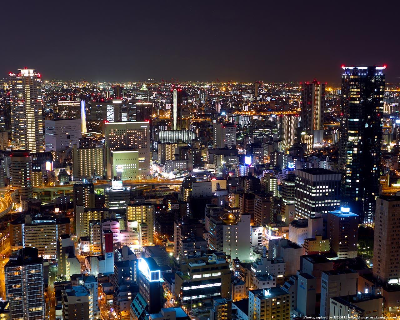 中之島西部地区〜福島駅周辺の夜景