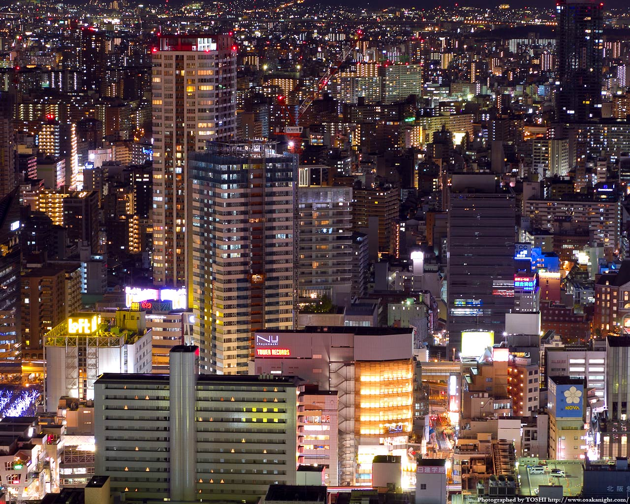 梅田ロフト〜Nu茶屋町周辺の夜景
