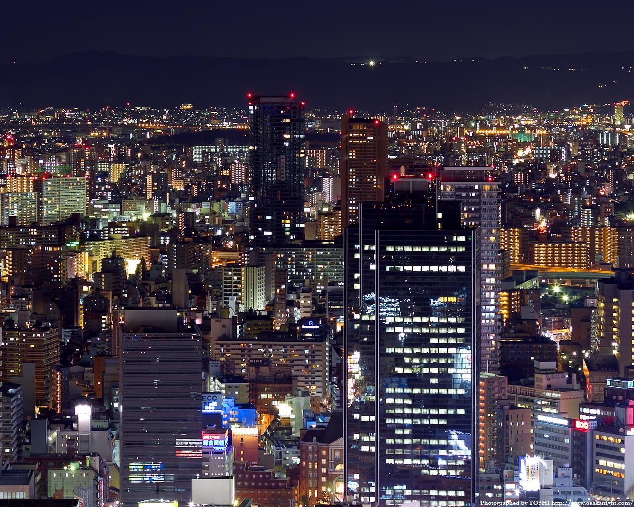 天満〜桜ノ宮方面の夜景