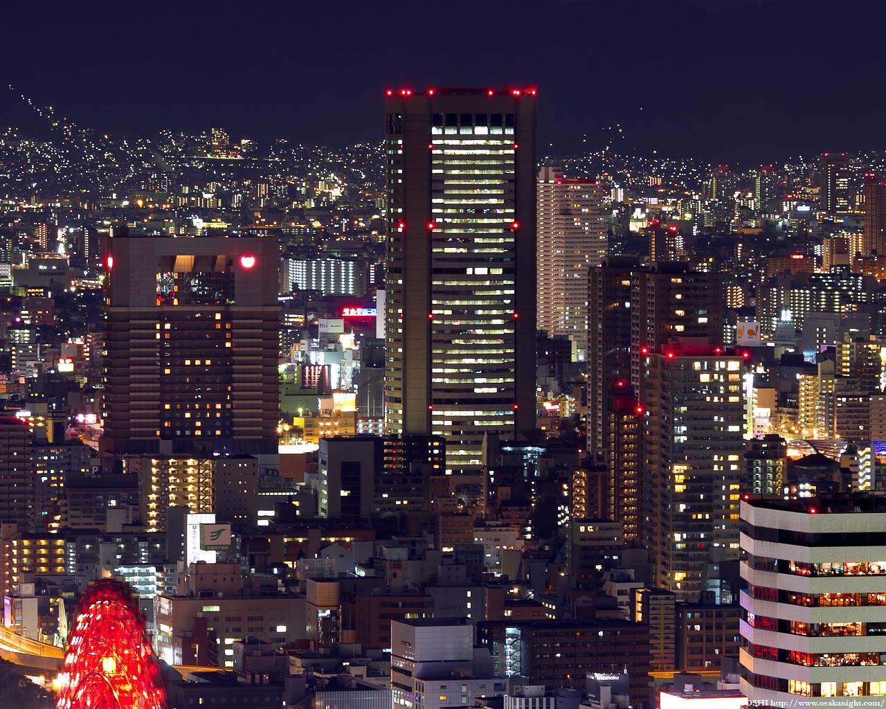 OAP大阪アメニティパークの夜景