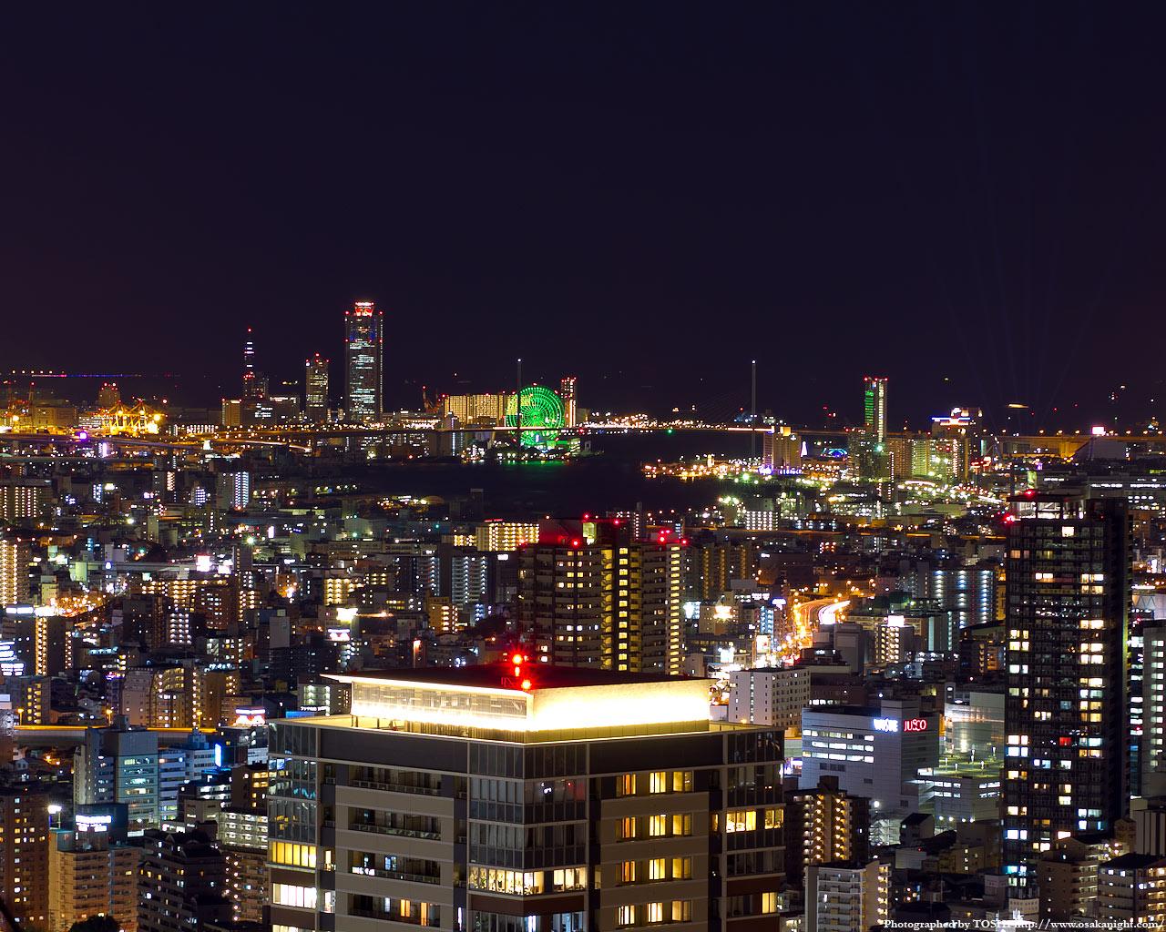 大阪南港〜ユニバーサルシティ方面の夜景