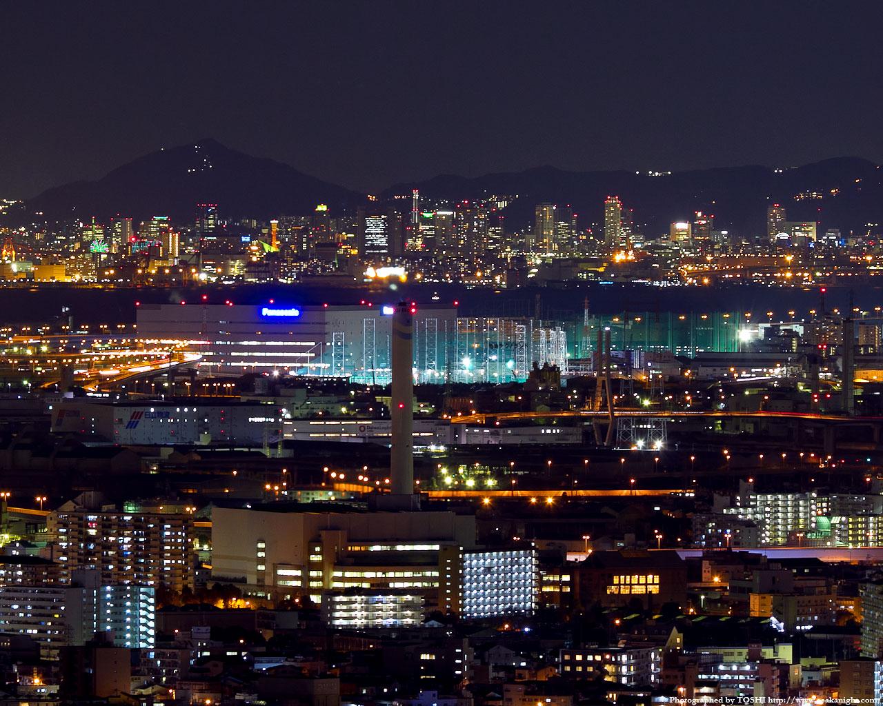神戸市中心部の夜景