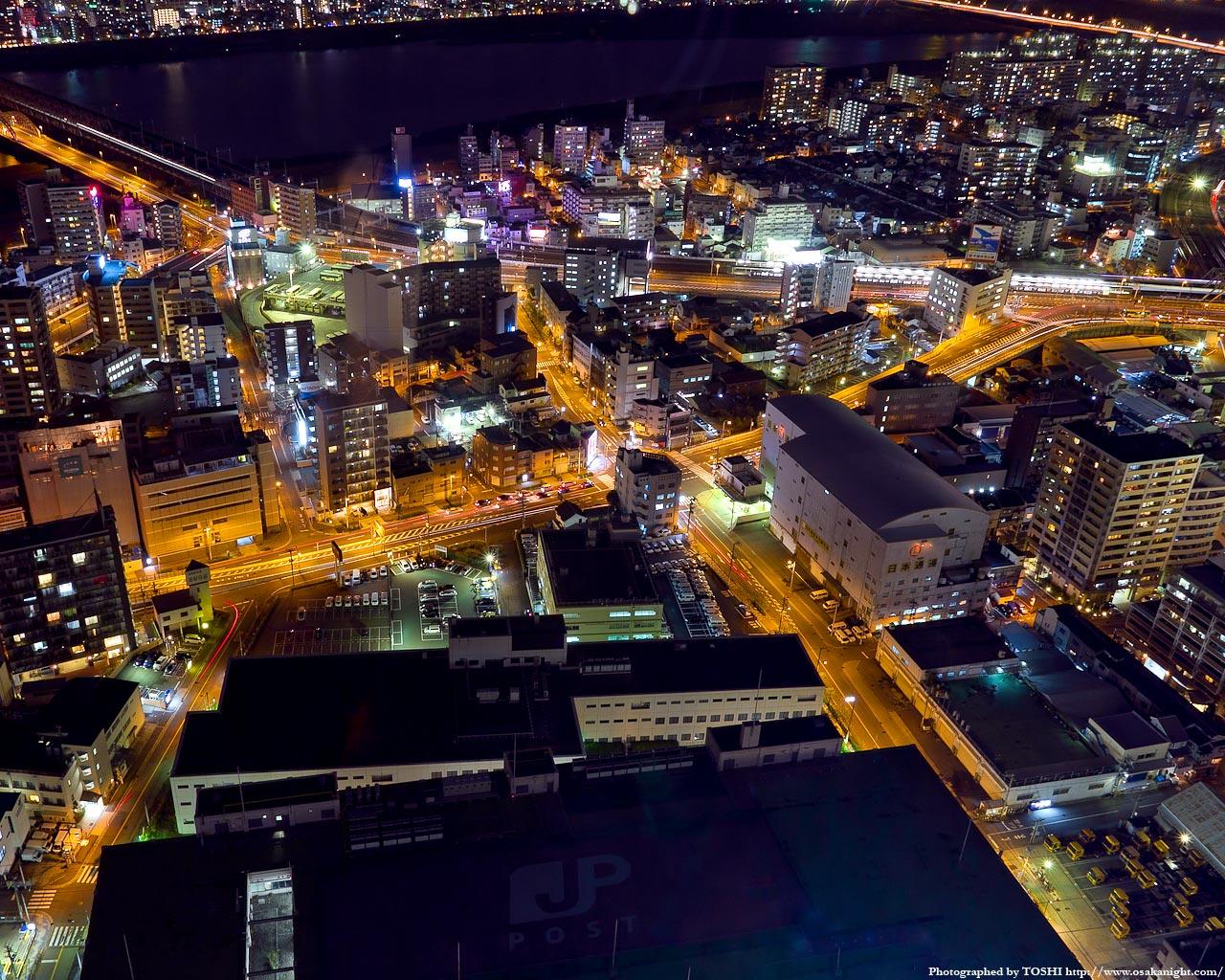 阪急中津駅周辺の俯瞰夜景