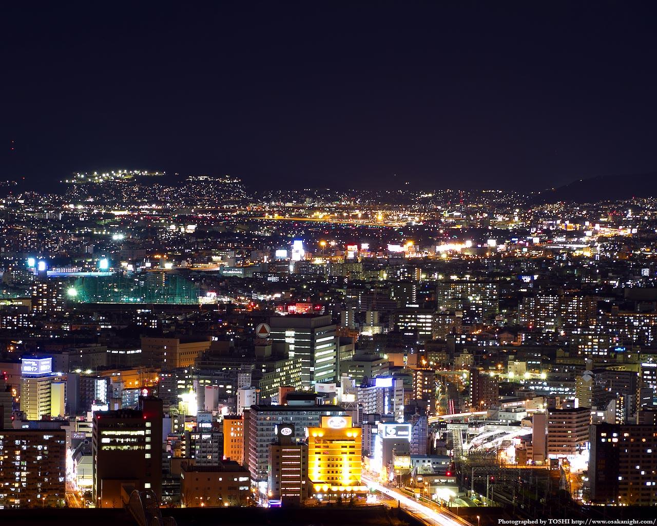大阪(伊丹)空港方面の夜景