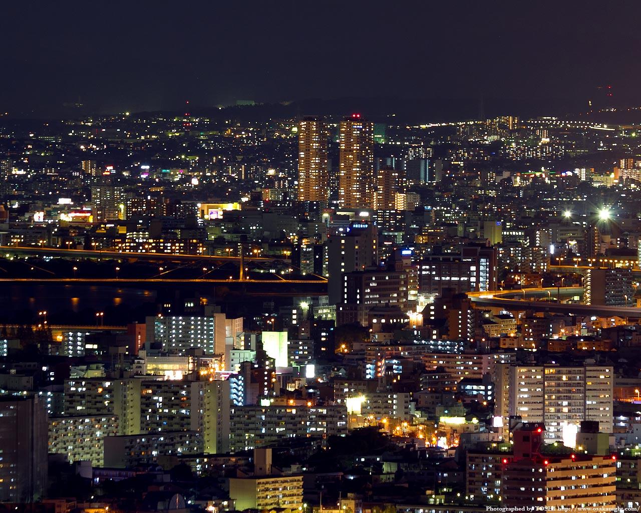 大日駅周辺の夜景