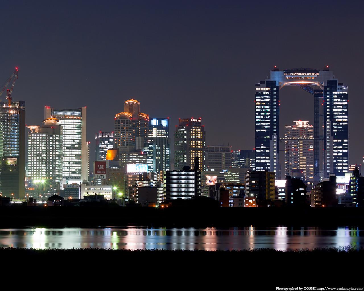 十三東付近より西梅田方面の夜景1