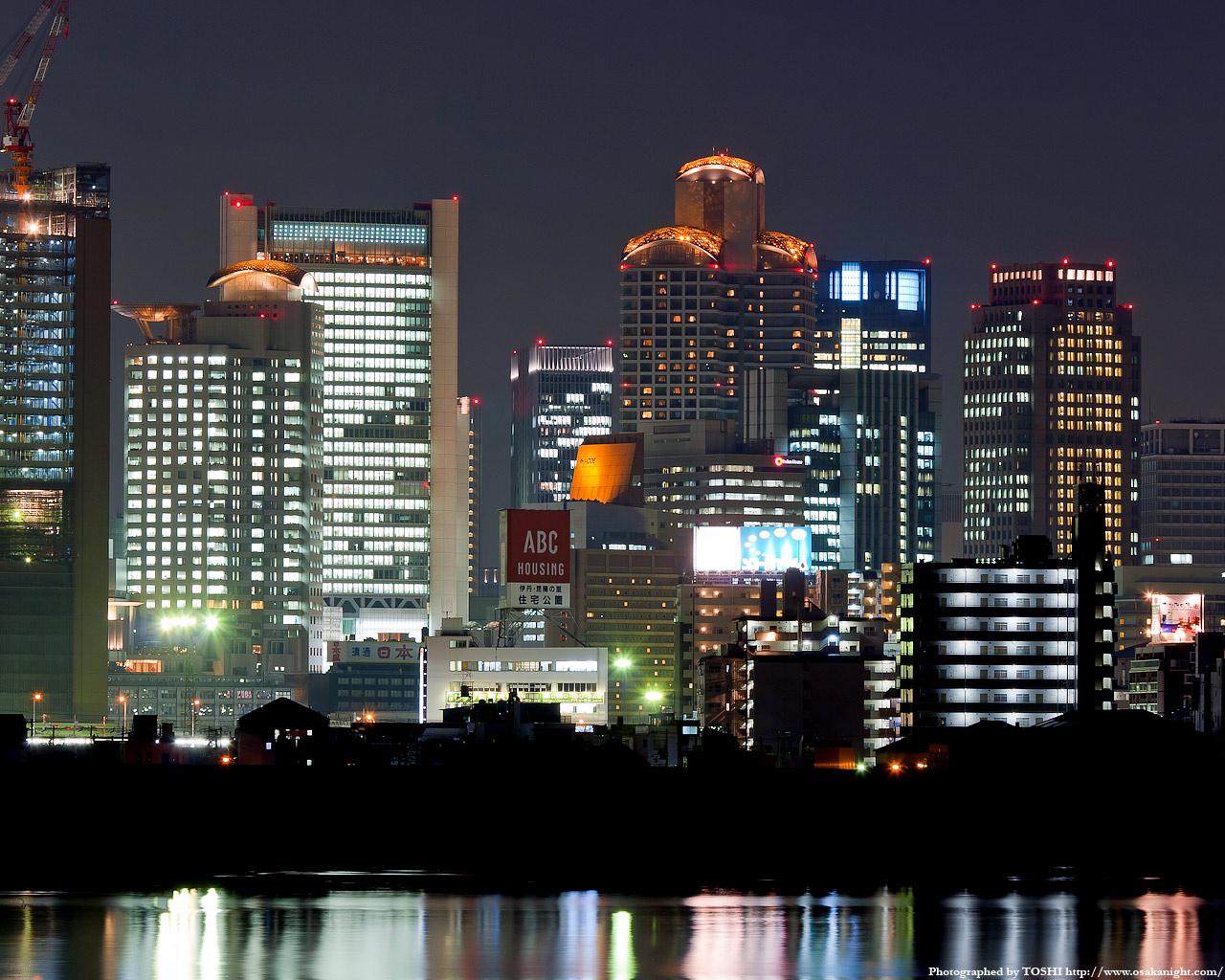 十三東付近より西梅田方面の夜景2