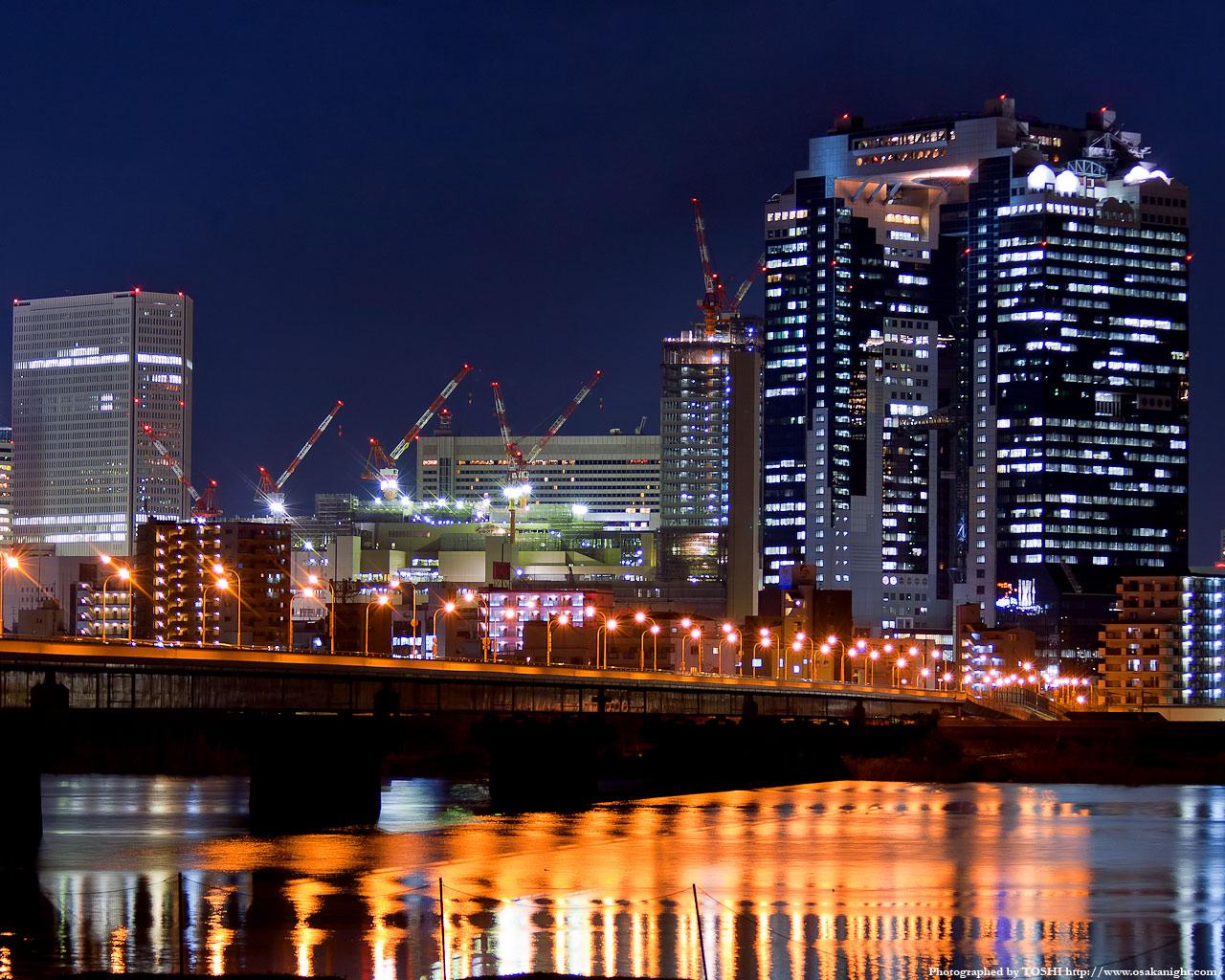 新十三大橋(十三バイパス)の夜景1