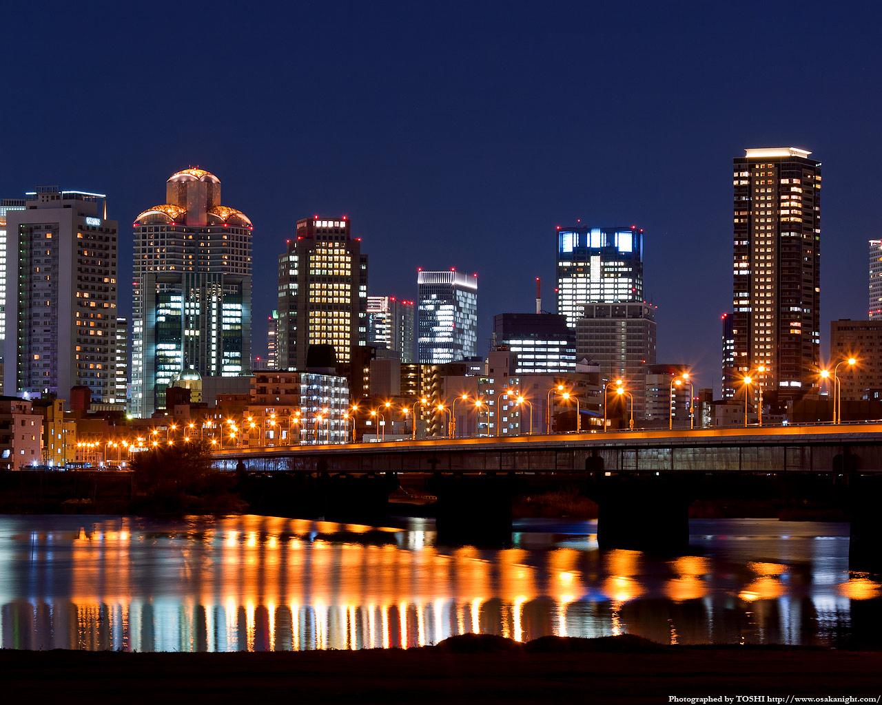 新十三大橋(十三バイパス)の夜景2
