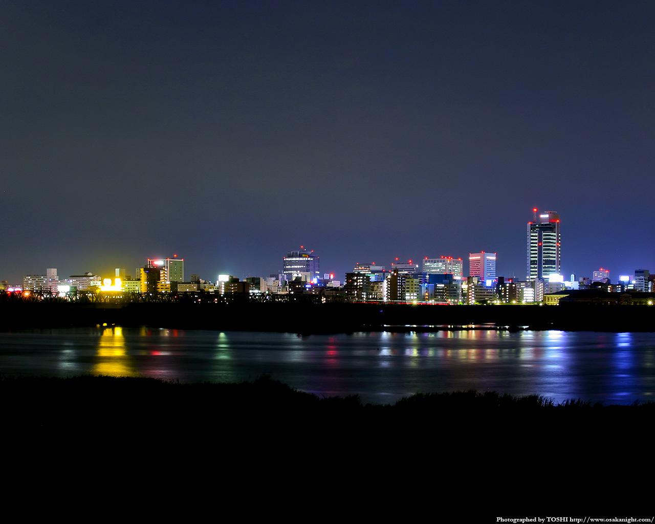 豊崎付近より新大阪方面の夜景1