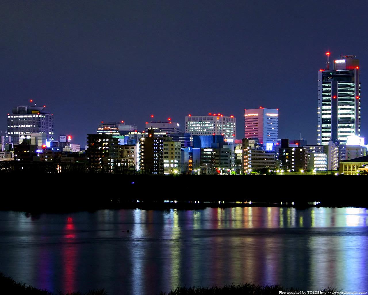 豊崎付近より新大阪方面の夜景2
